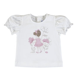 Mayoral SS Printed T-Shirt Natural (Flowers/Girl)