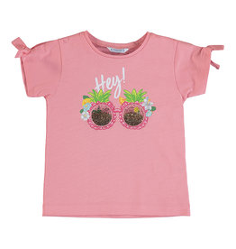 Mayoral SS Printed T-Shirt Flamingo