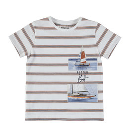 Mayoral Stripes SS T-Shirt Clay