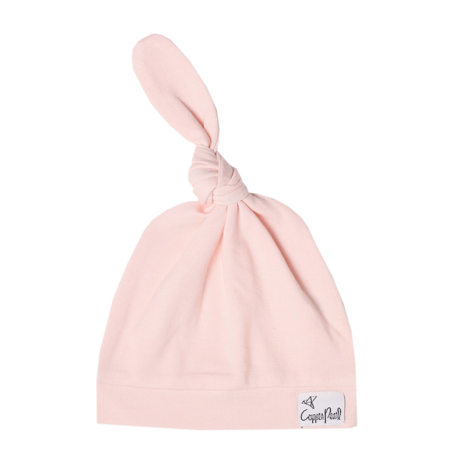 Copper Pearl Blush Top Knot Hat