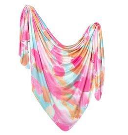 Copper Pearl Monet Knit Blanket Single