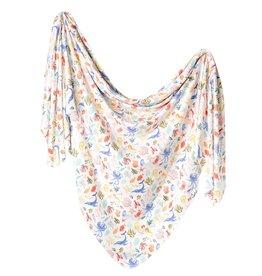 Copper Pearl Nautical Knit Blanket Single