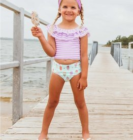 Ruffle Butts/Rugged Butts Anything is Popsicle Stripe Ruffled Tankini