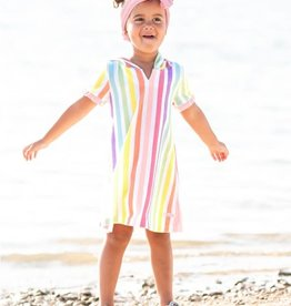 Ruffle Butts/Rugged Butts Rainbow Stripe Ruffle Terry Cover-Up