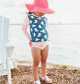 Ruffle Butts/Rugged Butts You're the Tweetest LS Rash Guard Bikini