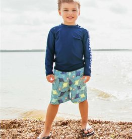 Ruffle Butts/Rugged Butts Starfish & Stingrays Swim Trunks