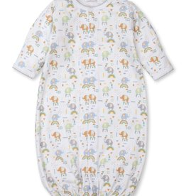 Kissy Kissy Rainbow Elephants Print Converter Gown