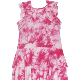 Isobella & Chloe Tie Dye Dress Pink