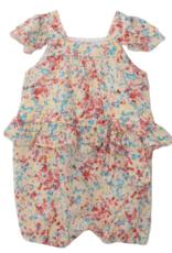 Isobella & Chloe Confetti Knit Romper Pink