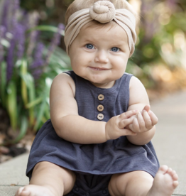Mabel & Honey Purple Romper & Bow Set Purple