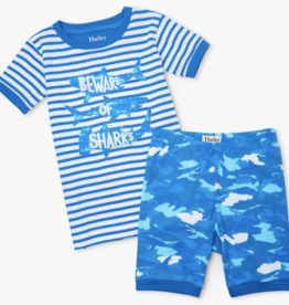 Hatley Camo Shark Short PJ Set Malibu Blue