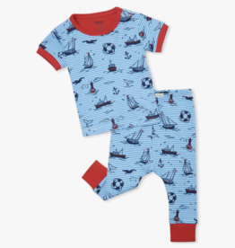 Hatley Out At Sea Baby SS PJ Set Azure Blue