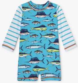Hatley Cool Fish Baby Rashguard Bluebird