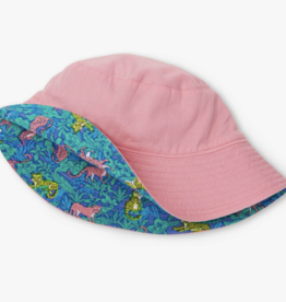 Hatley Jungle Cats Reversible Sun Hat Geranium Pink