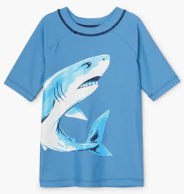 Hatley Deep Sea Sharks SS Rashguard Parisian Blue