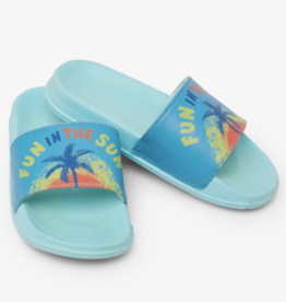 Hatley Fun In The Sun Slide On Sandals Aruba Blue