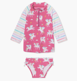Hatley Magical Pegasus Rashguard Set Carmine Rose