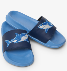 Hatley Deep Sea Sharks Slide On Sandal Parisian Blue