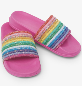 Hatley Over The Rainbow Slide On Sandals Carmine Rose