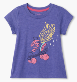 Hatley Roller Girl Tie Back Tee Purple Coralities
