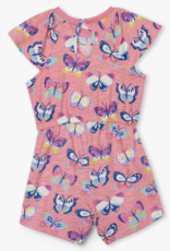 Hatley Butterfly Party Baby Layered Romper Pink