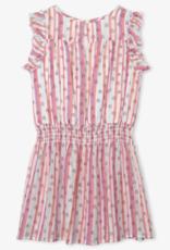 Hatley Candy Stripes Rainbows Play Dress White