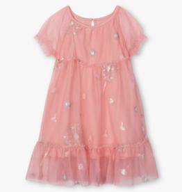 Hatley Precious Dandelion Baby Tulle Dress Pink