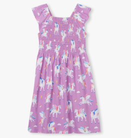 Hatley Magical Pegasus Smocked Dress Bodacious