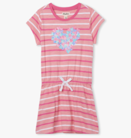 Hatley Heart Pocket Drop Waist Dress Pink