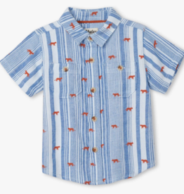Hatley Mini Jungle Cats Button Down Shirt White