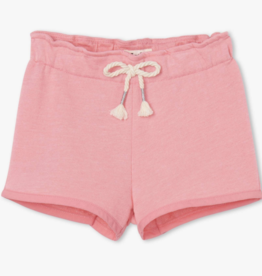 Hatley Light Pink French Terry Paper Bag Shorts