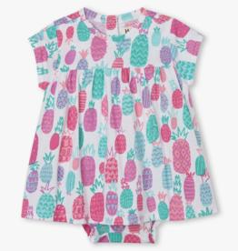 Hatley Pineapple Doodles Baby Dress White
