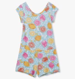 Hatley Pink Lemonade Faux Dress Romper Aruba Blue