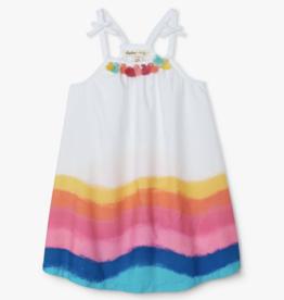 Hatley Rainbow Waves Baby Swing Dress White