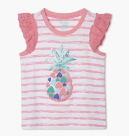 Hatley Pineapple Heart Eyelet Trim Tank Pink