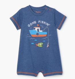 Hatley Gone Fishin Baby Romper Navy