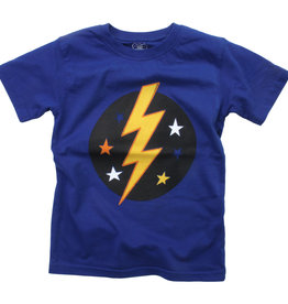 Wes And Willy Lightning Bolt SS Tee Blue Moon