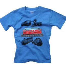 Wes And Willy Trains SS Tee UC Blue Blend