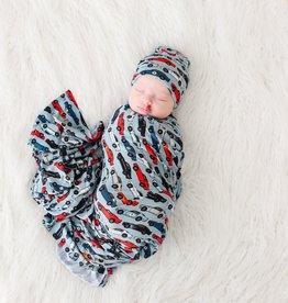 Posh Peanut Miles Infant Swaddle & Beanie Set