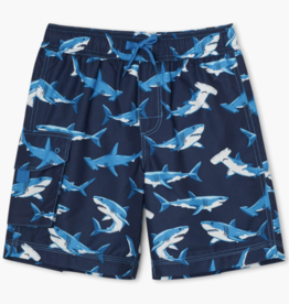 Hatley Deep Sea Sharks Swim Trunks Peacoat