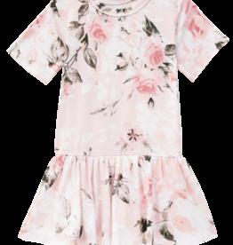 Posh Peanut Vintage Pink Rose SS Twirl Skirt Bodysuit