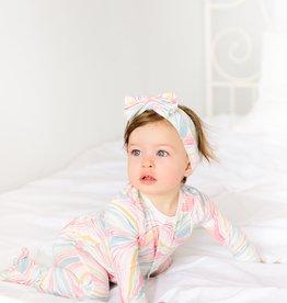 Magnificent Baby Twirls & Swirls Magnetic Footie