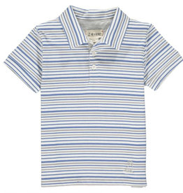 Me & Henry Scupper Polo Blue/Grey/White Stripe