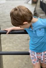Me & Henry Boardwalk Pique Henley Saltwater Blue