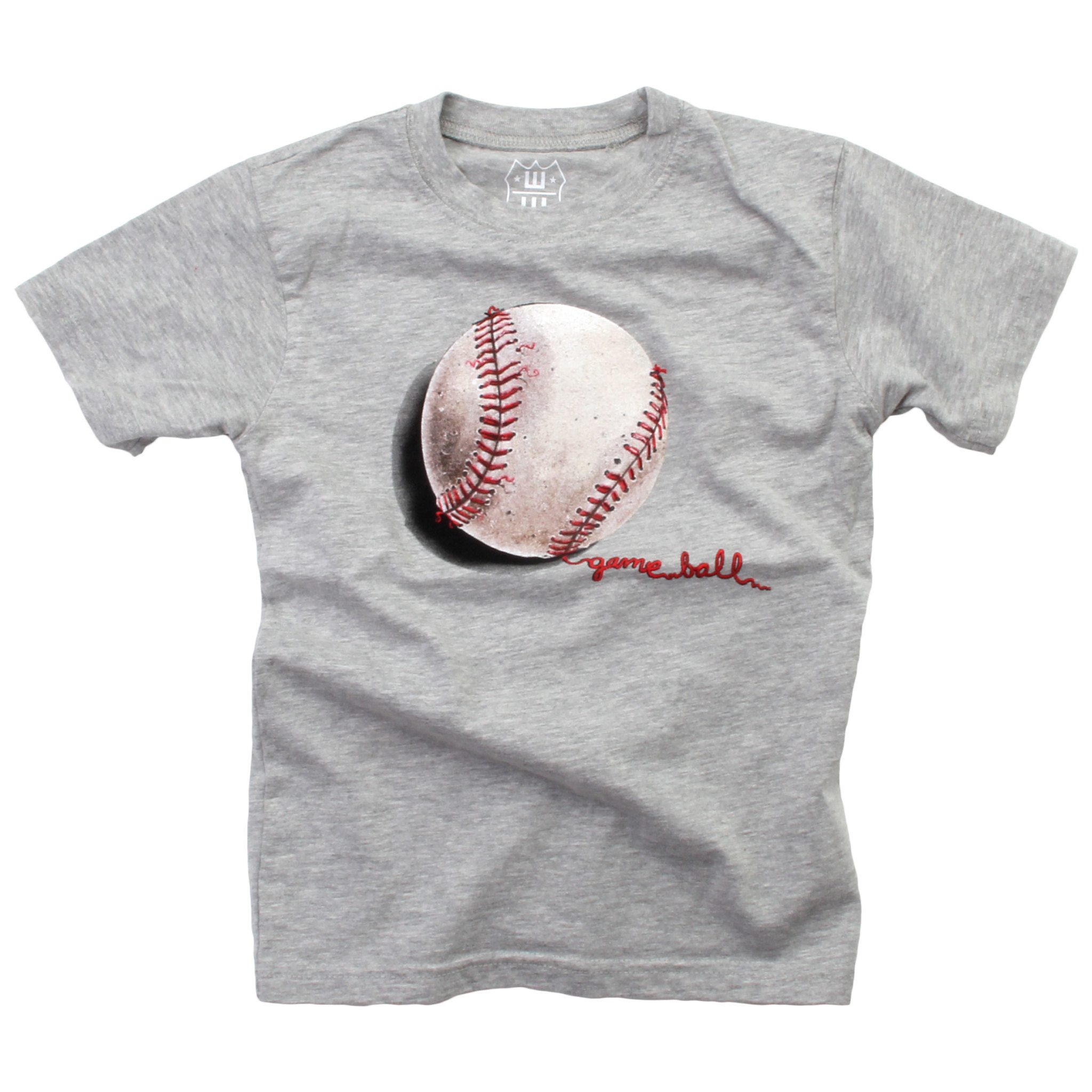 Wes And Willy Baseball SS Tee Heather