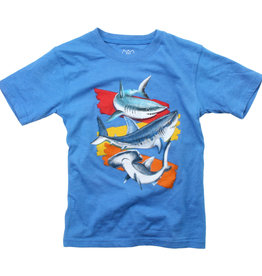 Wes And Willy Sharks SS Tee UC Blue Blend