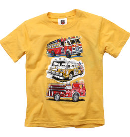 Wes And Willy Fire Trucks SS Tee Bold Gold Blend