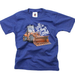 Wes And Willy Front Loader SS Tee Blue Moon Blend