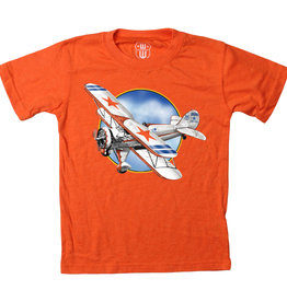 Wes And Willy Bi-Plane SS Tee Orange Crush Blend