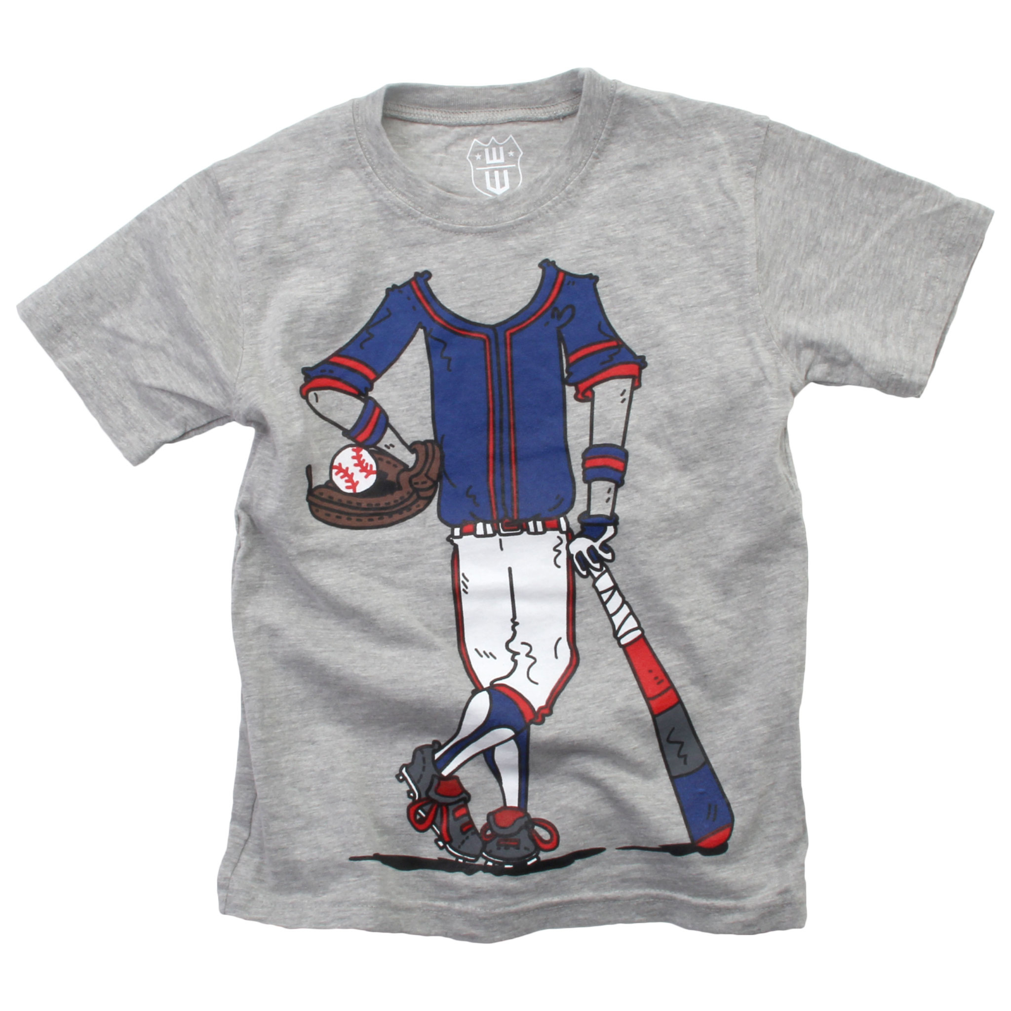 Wes And Willy Baseball Player SS Tee Heather